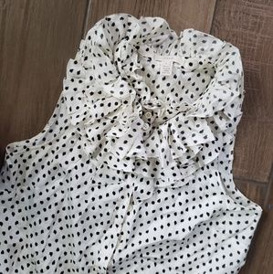 J. Crew Tops - J crew silk ruffle polka dot button down blouse 4